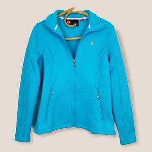 Spyder   Core Sweater Waffle Knit Blue